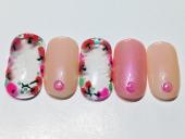 三鷹 ネイルサロン ピンク5